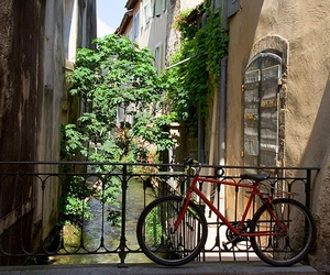 bicycle, france, and water image