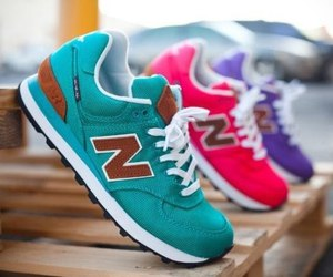 new balance, shoes, and pink image