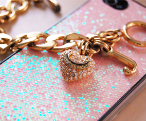 juicy couture, pink, and gold image