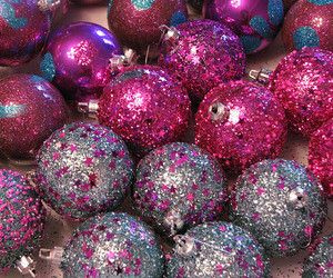 pink, christmas, and glitter image