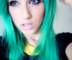 amazing hair, color, and green hair image