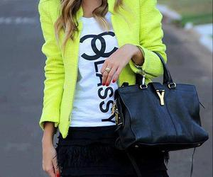 fashion, chanel, and neon image