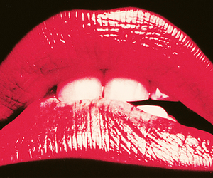 lips, red, and rocky horror picture show image