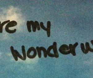 wonderwall, quote, and oasis image