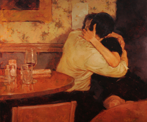 painting, cafe lovers, and joseph lorusso image