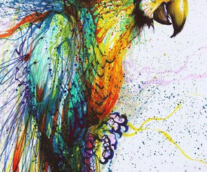 art, parrot, and bird image