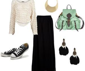 black converse, spring, and fashion image