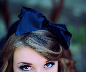 girl, eyes, and bow image