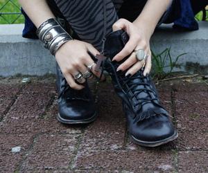 black, bracelets, and shoes image