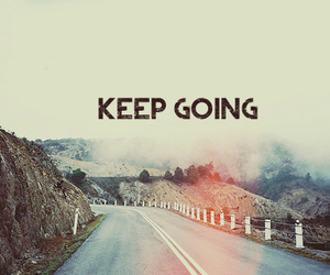 quote, keep going, and text image