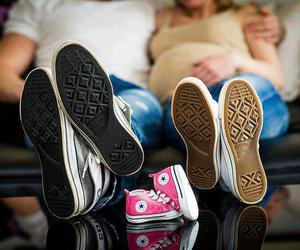 baby, family, and converse image