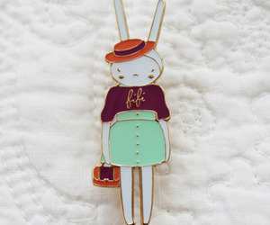 bunny, costume, and pin image