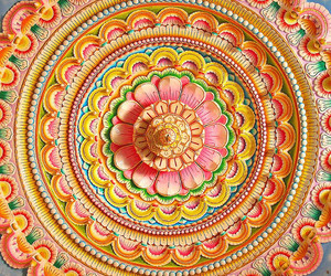 carving, ceiling, and colors image