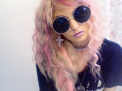 audrey kitching, hair, and pink image