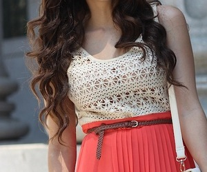 dress, outfit, and hair image