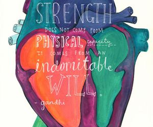 quote, heart, and strength image