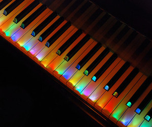 piano, color, and light image