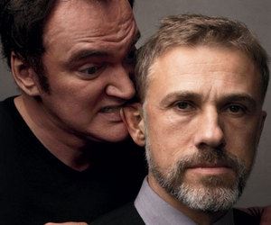 quentin tarantino and christoph waltz image