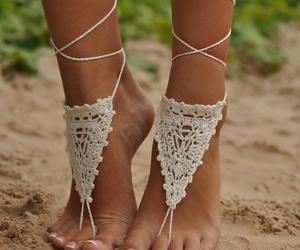different, knit, and sandals image