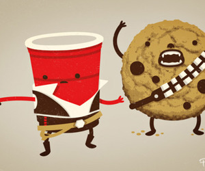 cookie, star wars, and funny image