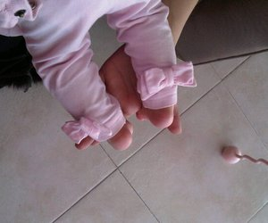 baby, leggins, and pink image