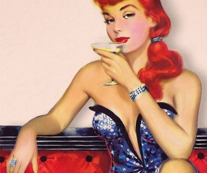 cigar, drink, and girl image