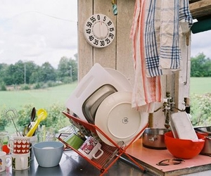 country, windows, and dishes image