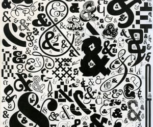 ampersand, b&w, and design image