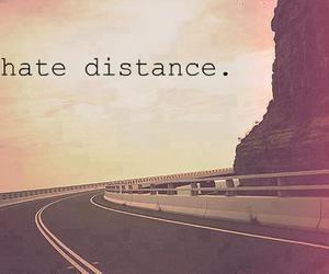 boy, girl, and distance image