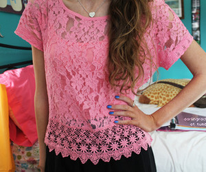 pink, tumblr, and lace image