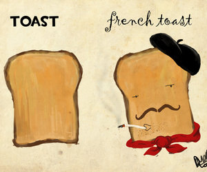 french, toast, and illustration image