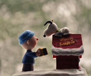 snoopy, charlie brown, and christmas image