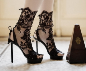 fashion, heels, and lace image