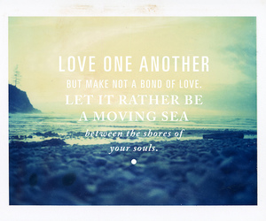 love, quote, and sea image