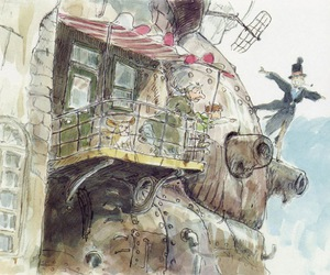 howl's moving castle and ghibli image