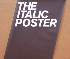 italic, poster, and type image