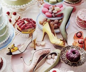 shoes, cake, and sweet image