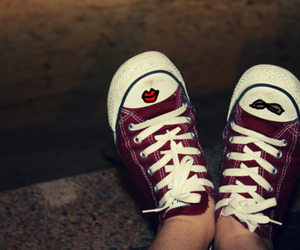 converse, doodles, and shoes image