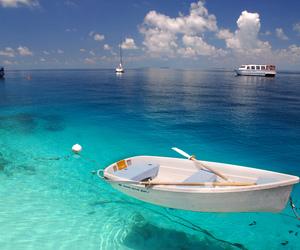 boat, sea, and summer image