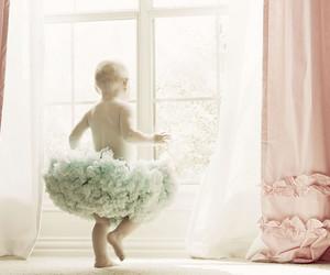 baby girl, dancing, and window image