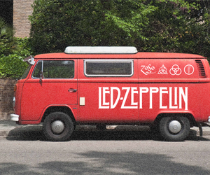 led zeppelin, red, and vans image
