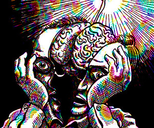 brain and psychedelic image