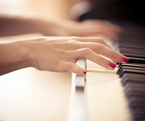 believe, nails, and piano image