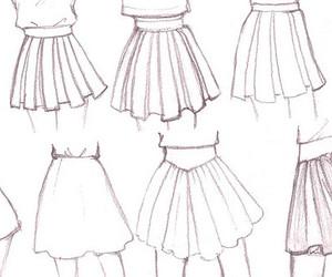 draw, skirt, and anime image