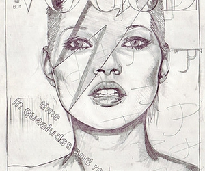 kate moss, vogue, and sketch image