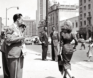 woman, vintage, and men image