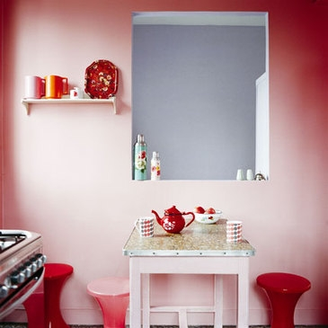 design, kitchen, and pink image
