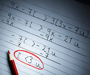 love, math, and heart image
