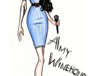 Amy Winehouse, drawing, and illustration image