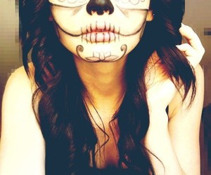day of the dead, death, and girl image